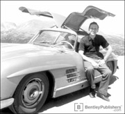 Karl Ludvigsen with his 1955 Mercedes-Benz 300SL, Rocky Mountains, 1959